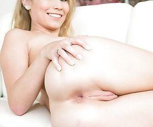 Blonde mother Dakota James flashing her perky tits and nice ass