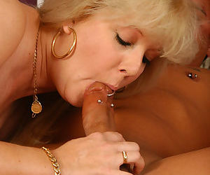 Big ass mature mom Skye Hamil tries out huge dick with piercing