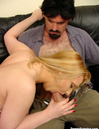 Young Latina shemale Amaya giving and receiving a blowjob with man