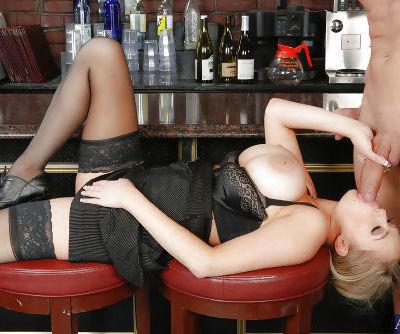 Classy office hooker in stockings Katie Kox is pricked pretty hard