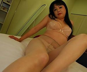 Naughty asian mature lady Sachiko Matsushita getting rid of her clothes