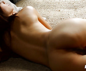 Slim asian babe with petite tits Rin Suzuka slipping off her lingerie