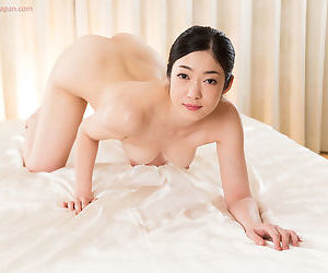 Sweet young Asian performs a sloppy POV handjob and licks the jizz up