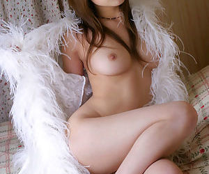 Sweetly pretty asian babe revealing her sexy body with nice tits
