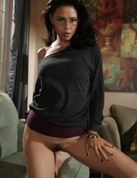 Lovely Dana Vespoli shows off her big Asian ass under her jeans