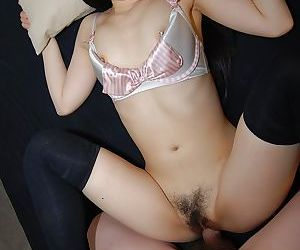 Asian sugar Yuri Ayase gets her pussy toy and cock fucked and creampied