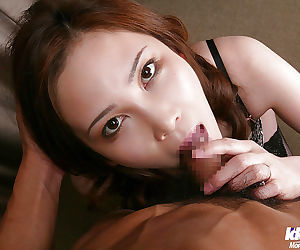 Horny asian lady gives a sensual blowjob and gets nailed hardcore