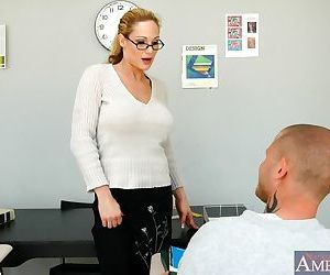 Sexy mom teacher in opaque stockings Tyler Faith drilled hard core