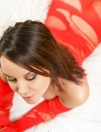Amateur model wants some cock after fingering her bald twat in hot lingerie