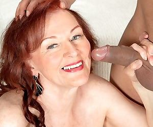 Over 70 granny Katherine Merlot goes pussy to mouth with her boy toy