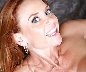 Redhead cougar Janet Mason goes 1 on 1 with the BBC of Flash Brown