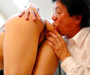 Sexy Asian MILF Nao Kato gets her hairy Japanese pussy toyed up and creampied