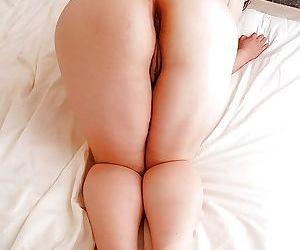 Fatty asian gal Keiko Etou undressing and showcasing her unshaven gash