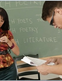 Sexy MILF teacher in stockings Eva Karera fucked hard by her student