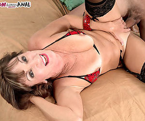Hot older lady Sydni Lane lets the neighbors boy fuck her in her tight ass