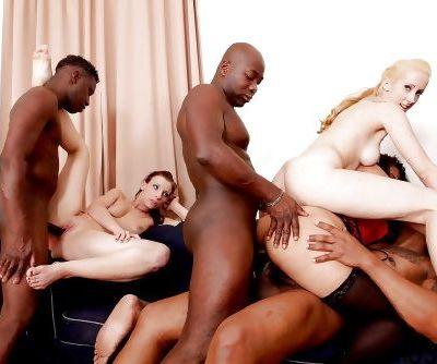 Pornstars Morgan Moon- Mercedes Galatea and Timea Bella ass fucked by BBC