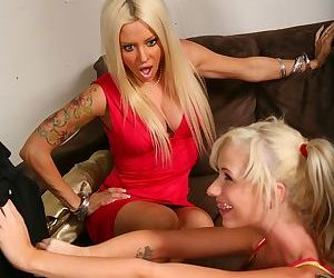 18 year old blonde girl and her mom get themselves some black dick