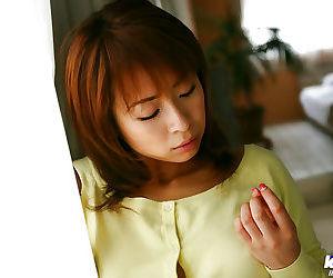 Naughty asian babe in lacy panties Karen Ichinose revealing her nice titties