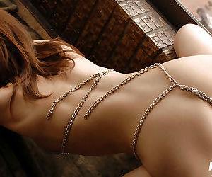 Seductive asian babe with sexy legs Jun Kusanagi posing in erotic bikini