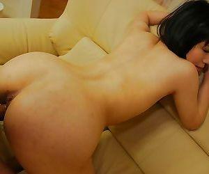Horny asian MILF Nagisa Takatsu has some pussy vibing and plugging fun