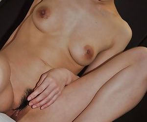 Foxy asian MILF has some pussy toying and fingering fun after shower