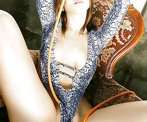 Hot ass asian babe with sexy legs Yuki Touma posing in bikini
