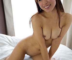 Sexy Japanese girl loves the feel of cum between her soft fingers