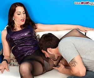 Brunette MILF Stella Rose gets stripped and butt banged by her new neighbour