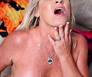 Mature woman Brandi Jaimes goes ass to mouth during interracial sex