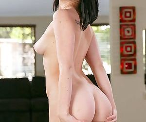 Amanda Lane takes off her mini-skirt and shows off her tits and ass
