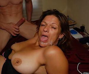 Experienced lady Ivee draining semen from cock with a head tilted back blowjob
