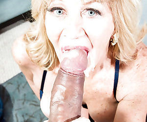 Older cougar Kendall Rex taking hardcore facial cumshot from big cock
