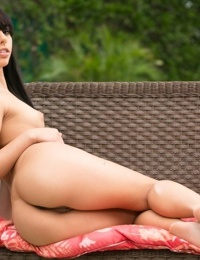 Amateur girl Gina Valentina just turned 18 and is of legal age for nude posing