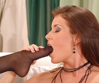 Ambrosial and sexy Chloe Delaure with perfect figure is licking her angels foot fingers