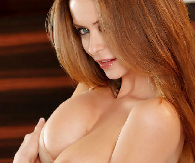 Emily Addison sucks her tits and fingers her pussy solo