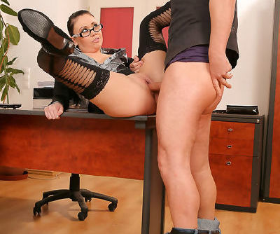 Office slut screaming with a big cock up her tight ass