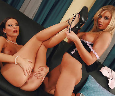 These naked and vulgar lesbians with big asses are having amazing 69 pose indoors