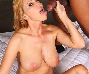 Older lady Nicole Moore bangs a huge black dick before her time expires
