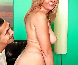 Lovely granny Jasmine Fields has a steamy sex with her horny neighbour