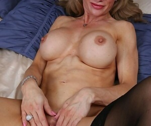 Christina brim busty mature blonde in stockings toying - part 6