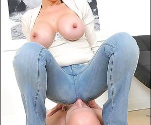 Lady sonia is smothering pussy against her slaves mouth - part 2398