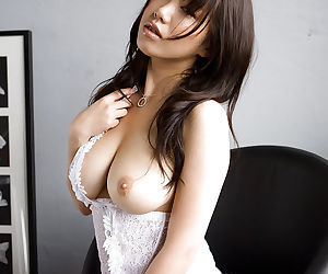 Lusty asian babe Mai Nadasaka slowly uncovering her gorgeous curves