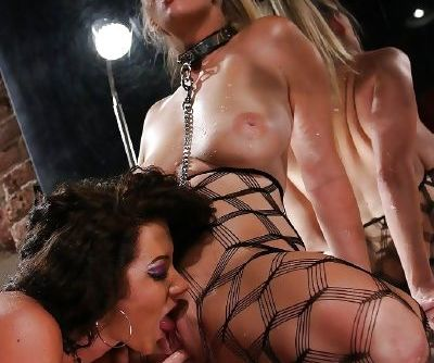 Jaw-dropping hot pornstars in nylons licking and fingering each others holes - part 2
