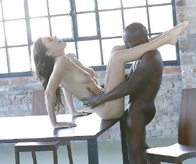 Brunette Tina Kay taking hardcore interracial anal fingering and fucking - part 2