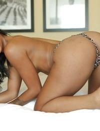 Ebony pornstar Harley Dean presents her awesome big boobies! - part 2