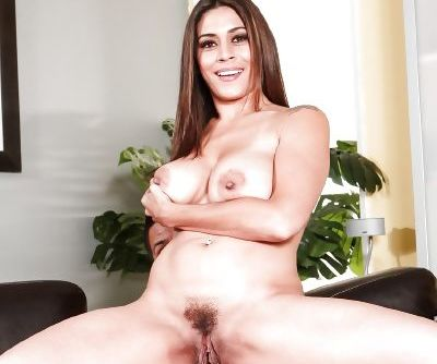 Dirty Latina MILF Raylene rides big cock cowgirl style & gets cum on tits