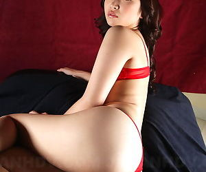Phenomenal Japanese babe Mayumi Takara shows her tiny tits and juicy ass