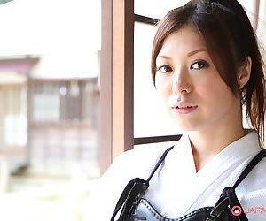 Japanese Kendo girl Jun Sena disrobed & fondled by martial art instructors