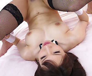 Japanese girl dressed in a playboy bunny outfit getting drilled - part 4113