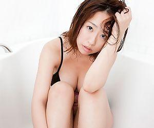 Busty asian hitomi kitamura posing her natural big tits - part 4840